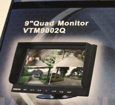 "BOYO VTM9002Q 9"" Four Split Screen 4-Channel 4 A/V Inputs TFT-LCD Monitor  NEW"