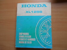 Officina Manuale Honda XL 125 S 1978-1979 SHOP MANUAL manuale d 'Atelier