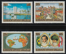 Libanon Lebanon 1973 ** Mi.1183/86 Unabhängigkeit Brasilien Independence Brasil