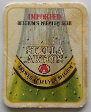 Stella Artois Imported Belgium's Premium Beer Coaster (B321-3)