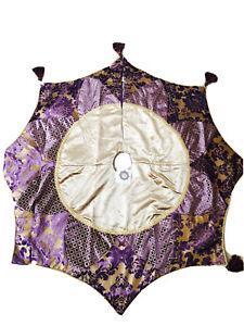 52 In VILLA BACCI Tree Skirt Renaissance Style Purple Gold Tassels