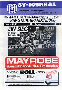 II. BL 91/92 SV Meppen - BSV Stahl Brandenburg, 08.12.1991