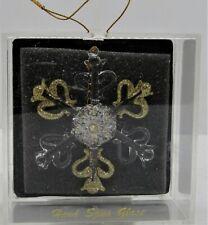 Hand Spun Glass Snowflake By Unique Treasure. New.