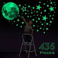435Pcs Glow In The Dark Luminous Stars & Moon Planet Space Wall Stickers  ℂ