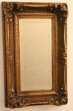 specchio ANTICO classico CORNICE Legno ORO esterno 35x55 Quadro ORO Anticato