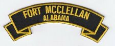 """Fort McClellan, Alabama 4"""" rocker tab embroidered patch"""