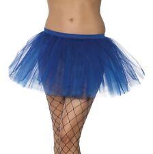 Donna Tutu Blu Costume a strati Tutu Sottoveste Nuovo Da Smiffys