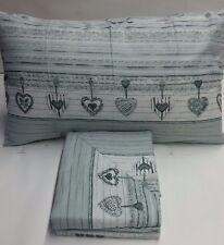 Completo lenzuola flanella cuore Art.Enjay Singolo una piazza. A686