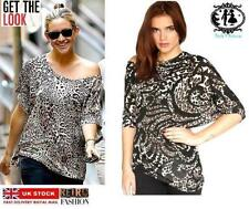 Crew Neck Leopard Casual Tops & Shirts for Women