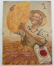 VINTAGE 1945 BUY WAR BONDS & LUCKY STRIKE CIGARETTES MAGAZINE AD