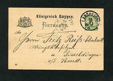 Bayern - Ganzsache aus Landau vom 28.03.1894   (EB-3)