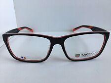 New TAG Heuer TH 552 002 59mm Black Red Men's Eyeglasses Frame France