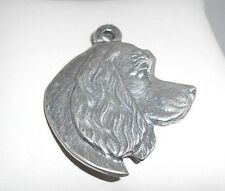 Exceptional  Artisan-crafted Large  3-D  Cocker Spaniel  Sterling Silver Pendant
