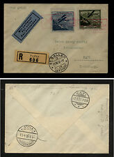 Liechtenstein C4,C5 on   registered  cover to Luxembourg  1930            MS0202