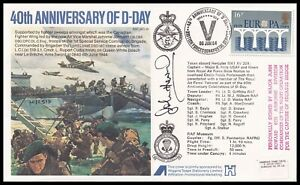 MAJOR JOHN HOWARD DSO Signed D-Day 40th Anniversary RAF Cover