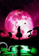 Disney Alice in Wonderland  moon art print A4, poster, picture