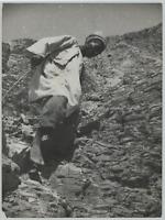 Egypte, Ruines de Thebes  Vintage silver print. Tirage postérieur  Tirage arge
