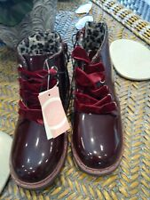 MISS EVIE BOOTS BNWT NEW GIRLS SIZES 10,11,12,13,1,2 LOVELY ZIP UP BOOTS