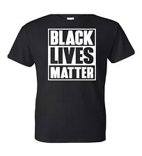 Black Lives Matter T-Shirt I Cant Breathe All Size (S-XXL) BLACK