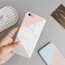 Granite Marble Contrast Color PC Hard Phone Cover Case for iPhone X 8 6S 7 Plus