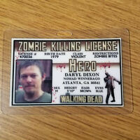 The Walking Dead ID Badge-Zombie Killing License Daryl Dixon cosplay costume