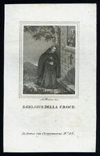 santino incisione 1800  S.GIOVANNI GIUSEPPE DELLA CROCE