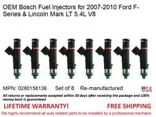 8 Fuel Injectors for 2007-2010 Ford F-Series 5.4L V8 OEM Bosch #0280158138