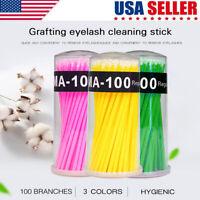 100pcs/set Disposable Makeup Micro Eyelash Brush Swab Applicators Mascara Wand