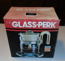 Vintage Gemco Glass-Perk Black 2-4 Cup Coffee maker Percolator - Made in USA!