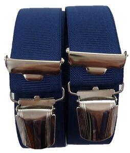 feine elegante Hosenträger, 35 mm breit,  starke Klips, Blitzversand