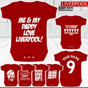 Liverpool - Baby Vest Suit Grow - Klopp - Salah - Mane - Madrid