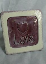 Love Picture by Clay Impressions 4 1/4 in sq Made in the USA