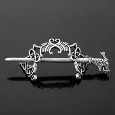 Dragon Hair Clip Pin Silver Viking Celtic