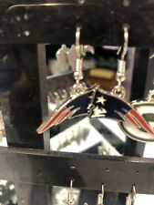New England Patriots NFL Dangle Earrings 3D Logo Hypo-Allergenic Aminco