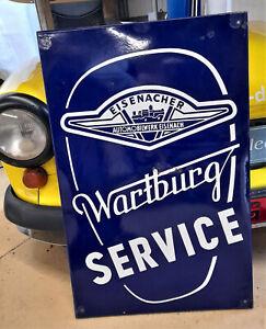 Wartburg Service Emailleschild Blechschild Oldtimer