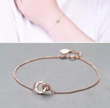 Armkette, Armband, 925 Silber, Rosevergoldet, Kreis, rund, Strass, Filigran, NEU