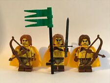 lego fantasy PRINCE + ARCHERS - 3 MINIFIGURES + WEAPON - MEDIEVAL