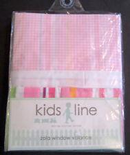 Kidsline Zola Valance Curtain Pink Stripe Jungle Animal Nursery Baby Gingham NEW