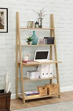 Birlea Nordic Scandinavian Retro Ladder Bookcase Desk Shelving Shelf Unit Oak