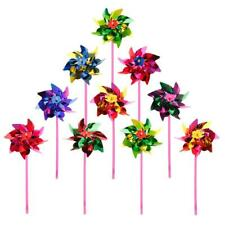 10Pcs Kids Plastic Windmill Pinwheel Wind Spinner Toy Garden Lawn Party Decor