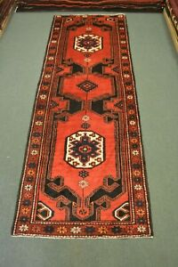 300 X 108 CM Stunning Red with Black Color Combination Tribal Kazak Runner