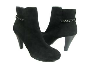 Paul Green Women ankle boots booties Black chain heel platform Destiny sz 10 new