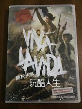 COLDPLAY VIVA LA VIDA CD + POSTER + BOOKLET + 3 POSTCARDS CHINESE EDITION USED