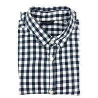 Core by Jack And Jones Mens Shirt Long Sleeve Check Navy Check Cotton Size S