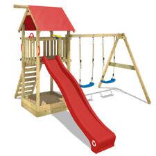 WICKEY Spielturm Klettergerüst Smart Empire mit Schaukel & roter Rutsche