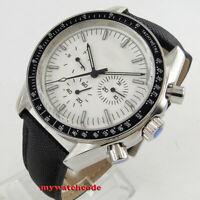 40mm bliger sterile white dial date week multifunction automatic mens watch 215B