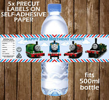 Personalised Thomas the Tank Engine Water Bottle Labels Birthday Children Party