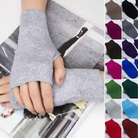 1Pair Women Cashmere Fingerless Warm Winter Gloves Hand Wrist Warmer Mittens HOT