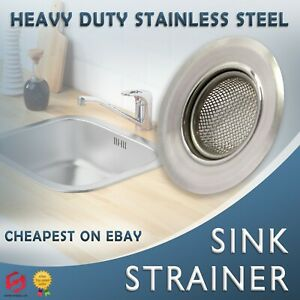 STAINLESS STEEL SINK BATH PLUG HOLE STRAINER DRAINER BASIN HAIR TRAP COVER