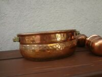 Hand Made Copper Hammered Dovetailed Vintage Brass Handle